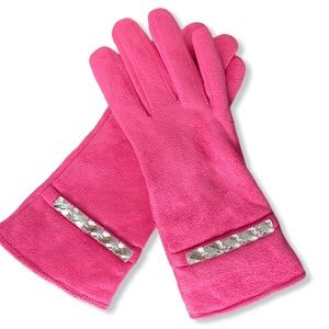 Pink Gloves with Silver accents